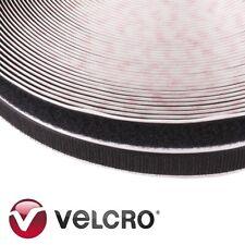 High Quality BLACK SELF ADHESIVE HOOK & LOOP TAPE ROLL Brand VELCRO® 20mm x 25m