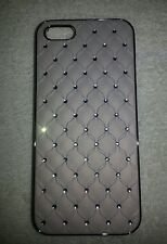 Apple iphone 5 /5s hard case cover  off white bling with diamonds