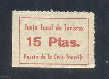 15 PTAS ROJO SOBRE BLANCO.   PUERTO DE LA CRUZ (CANARIAS)