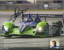 American Le Mans Series 2009 Highcroft Acura Hero Card SIGNED Stephan Johansson