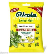 105 Ricola Herb Throat Drops Lemon Mint Sugar Free Soothing JUMBO PACK 105 Drops