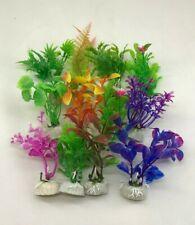 "LOT OF 10 - 4"" MIX ARTIFICIAL PLASTIC DECORATION AQUARIUM PLANT FOR FISH TANK"