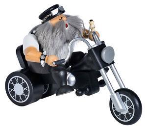 KWO Räuchermann Easy Rider Biker Motorradfahrer Chopper Erzgebirge 21492 Neu