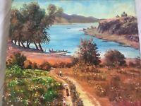 1977 Vintage Original Oil Landscape Signed by Armenian painter