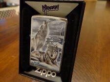 MAZZI WOLVES IN WINTER HOWLING  ZIPPO LIGHTER MINT IN BOX