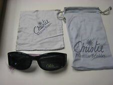 Christie Brinkley Sunglasses  DESTIN  Black gry  51-17-135   CLOTH  CASE & wipe