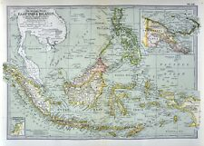 1902 Century Map - East Indies Java Sumatra Philippines Borneo Celebes Singapore