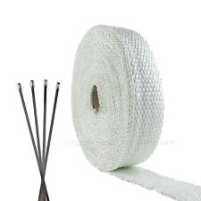 FIBERGLASS EXHAUST PIPE WRAP TAPE KIT MOTORCYCLE ENGINE HIGH HEAT THERMO SHIELD