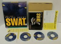 Police Quest SWAT Sierra - Vintage PC CD-ROM Game Rare 1995 Big Box Mint Discs