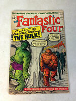Fantastic Four #12  HULK VS THING super KEY issue KIRBY STAN LEE 1962 AWESOME