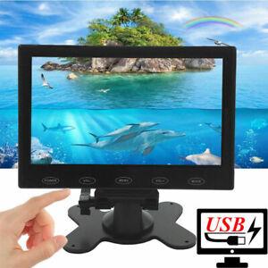 "Mini 7"" LCD CCTV Monitor HD PC Screen USB Power HDMI 1080p AV/RCA/VGA/BNC"