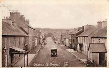 GLENTIES CO. DONEGAL IRELAND  IRISH POSTCARD by J QUINN Draper sent 9-April-1925