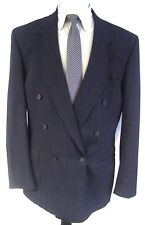 Stafford Men's Black Sport Coat Double Breasted Size 42L 42 Long