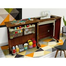Compact Sewing Centre - Teak