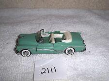 1987 Franklin Mint Precisions Green 2 Door Convertible Die Cast Car