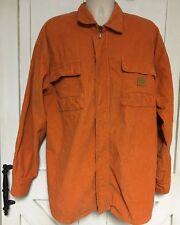 Vtg 90's Hip-hop Men 2XL Sean John L/S Button/Zip Orange Corduroy Jacket/Shirt