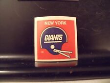 1977 NFL Football Helmet Sticker Decal New York Giants Sunbeam Bread
