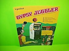 Meadows GYPSY JUGGLER 2 Sided Magazine Ad For Video Arcade Game Artwork