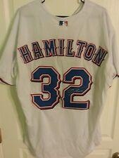 Josh hamilton signed texas rangers jersey w/coa