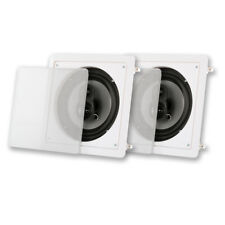 """Acoustic Audio CSi83S In Wall / Ceiling 8"""" Speaker Pair 3 Way Home Theater"""