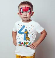 4th Happy Birthday Giraffe  Funny Gift Predent Kids T Shirts