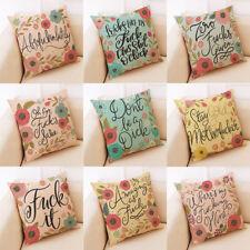 """18"""" Letter Print Cotton Linen Home Decorative Pillow Case Cushion Cover"""