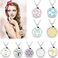 Newest Stainless Steel Pendant Necklace Aromatherapy Essential Oil Diffuser
