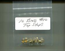 #10 Brass Heavy Duty Top Zipper Stops Pack of 10 New!