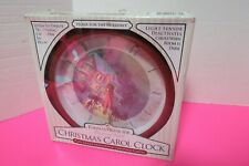 Thomas Kinkade 1990 Christmas Carol Clock Plays 12 Tunes Light Sensor New