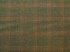 100% Pure Wool Check Tweed Fabric 2.5 m
