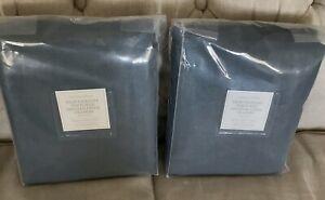New TWO Restoration Hardware Heavyweight Textured Belgian Linen Curtains $598