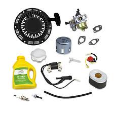 Tune Up Kit For Honda GX200 BLACK Recoil Carburetor Ignition Coil Air Filter Oil