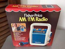 1984# RARE FISHER PRICE AM FM RADIO WIT MICROPHONE#NIB