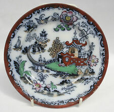 Vintage b.t.p. Co. Ironstone China Placa Lateral-japonés patrón - 16cm de diámetro.