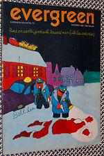 1969 EVERGREEN Magazine, ABBIE HOFFMAN, SDS, Jack Newfield, Village Voice