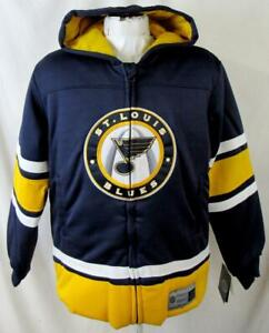 St Louis Blues Youth X-Large (20) Full Zip Hooded Jersey Style Jacket ASLB 25