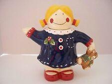 Darling Little Girl & Teddy Theme Mini Teapot Children Party Girl Easter