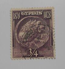 CYPRUS SG123 1928 ¾pi DEEP DULL PURPLE USED