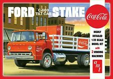 AMT 1147 - Coca-Cola Ford C-600 Tilt Cab Truck Stake Bed  1/25 Scale Model