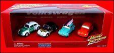 Johnny Lightning 4 Cars Box Set Volkswagen POLIZEI FLAMED SURF CAL CUSTOM BEETLE