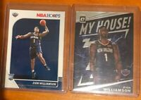 LOT (2) Zion Williamson RC Rookie Card NBA Hoops #258 My House Insert 💎 ROY?🔥