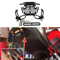 Motorcycle Rear License Plate Holder Bracket Tail Tidy LED Light Mount Universal