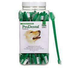 Top Performance Pet Gromming, Prodental Dual End Pet Toothbrush 50Pk TP12055 New