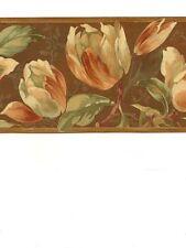 Tulipani & Floreale Marrone Bordo Carta da Parati BD41655B