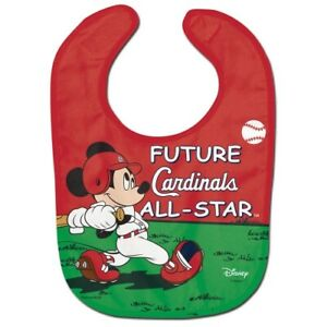 ST. LOUIS CARDINALS MICKEY MOUSE BABY BIB DISNEY MLB OFFICIALLY LICENSED