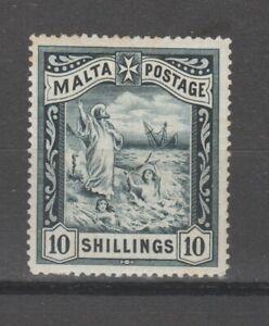 s38424 MALTA 189 MH* QV 10s 1v toned