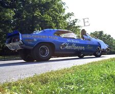 """Mr. Norm's Super Challenger Funny Car Dragster with girl model 8""x10"" Photo 27d"