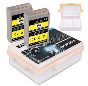 2 Akku für Olympus OM-D E-M10, E-M10 Mark III, BLS50 E-PL7 E-PL6 + Akkubox BLS-5