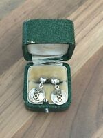 Beautiful Unique Pair of Marked Sterling Silver Dangle Drop Earrings 2.56gr
