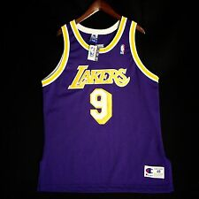 100% Authentic Nick Van Exel Champion NBA Lakers Jersey 48 L - kobe shaq